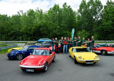 Foto: Gruppenfoto Lotus Historic Register Germany