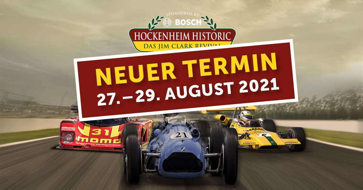 Logo: Hockenheim Historic, Termin verschoben; 27.-29-08.2021